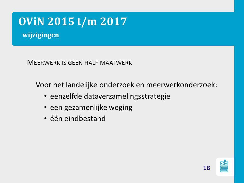 OViN 2015 t/m 2017 wijzigingen Meerwerk is geen half maatwerk