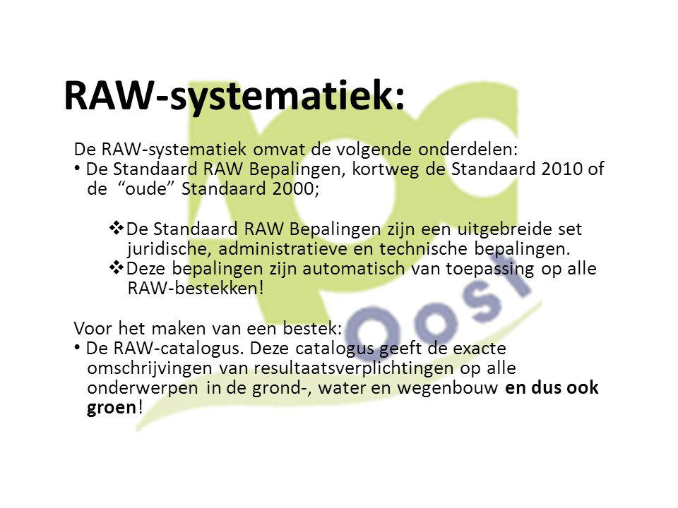 RAW-systematiek: De RAW-systematiek omvat de volgende onderdelen: