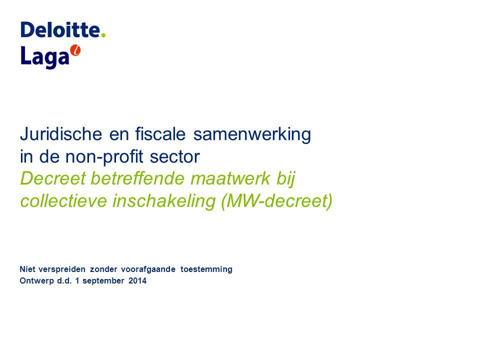 Juridische en fiscale samenwerking in de non-profit sector