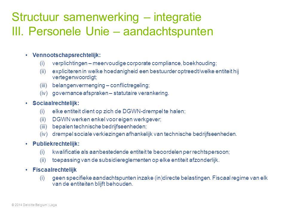 Structuur samenwerking – integratie III
