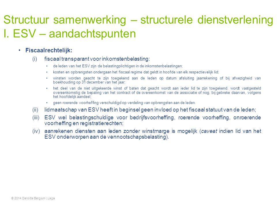 Structuur samenwerking – structurele dienstverlening I