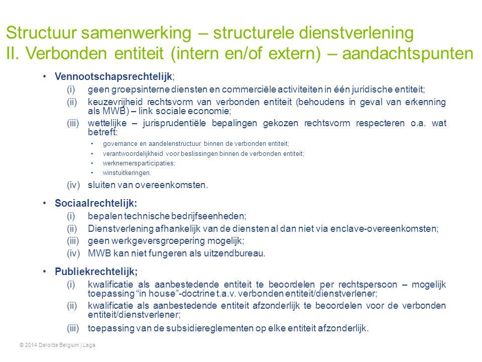 Structuur samenwerking – structurele dienstverlening II