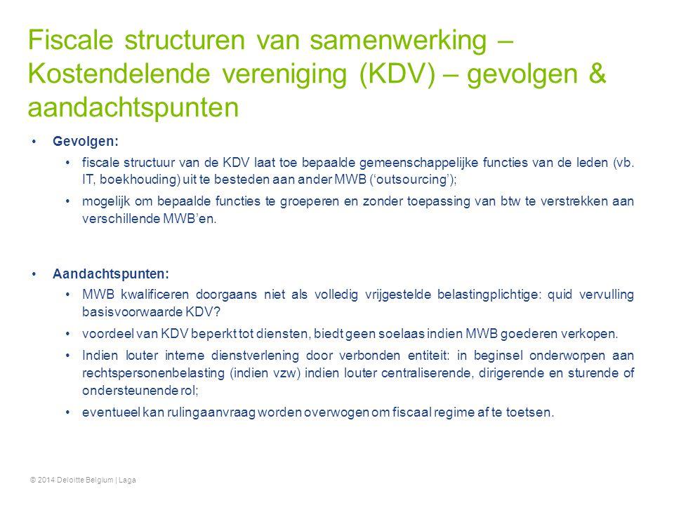 Fiscale structuren van samenwerking – Kostendelende vereniging (KDV) – gevolgen & aandachtspunten