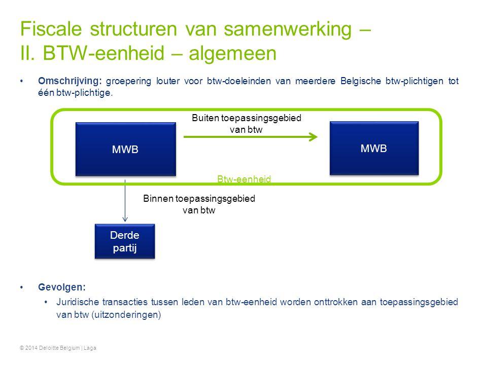 Fiscale structuren van samenwerking – II. BTW-eenheid – algemeen