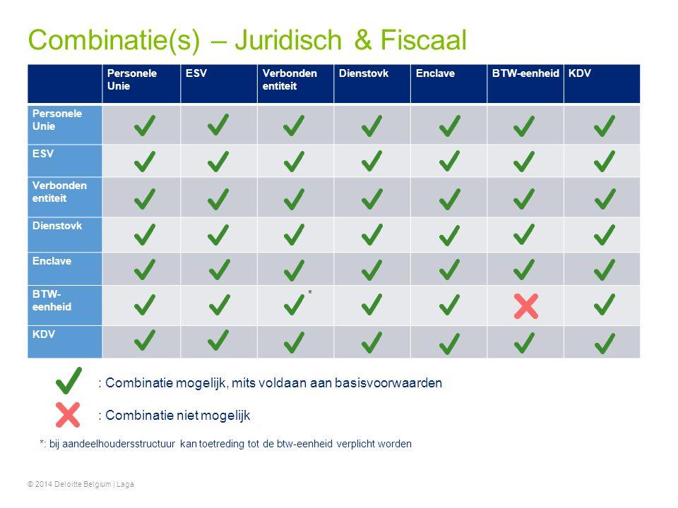 Combinatie(s) – Juridisch & Fiscaal