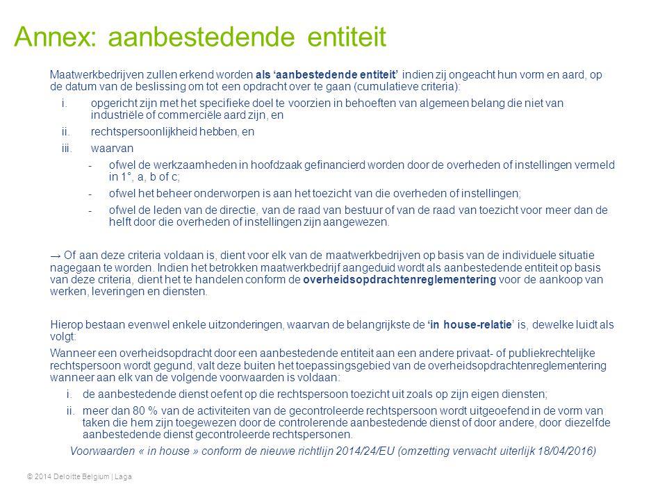 Annex: aanbestedende entiteit