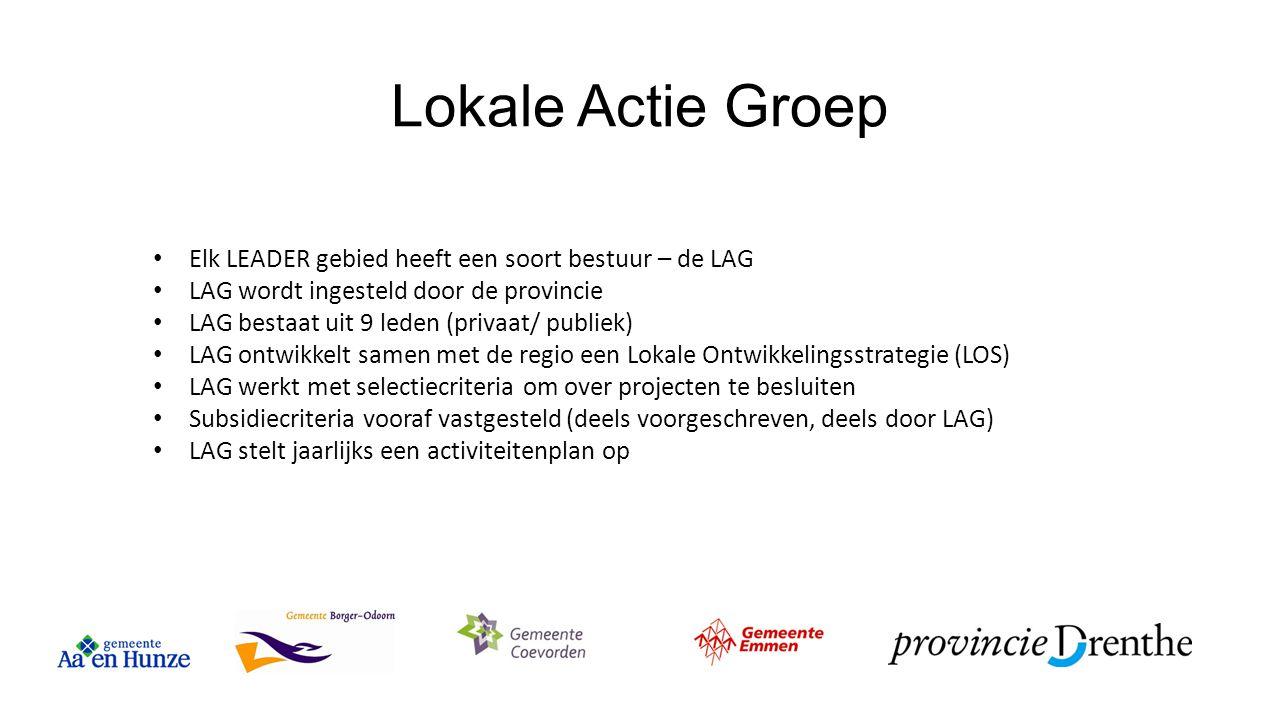 Lokale Actie Groep Elk LEADER gebied heeft een soort bestuur – de LAG