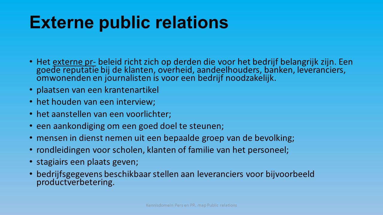 Externe public relations