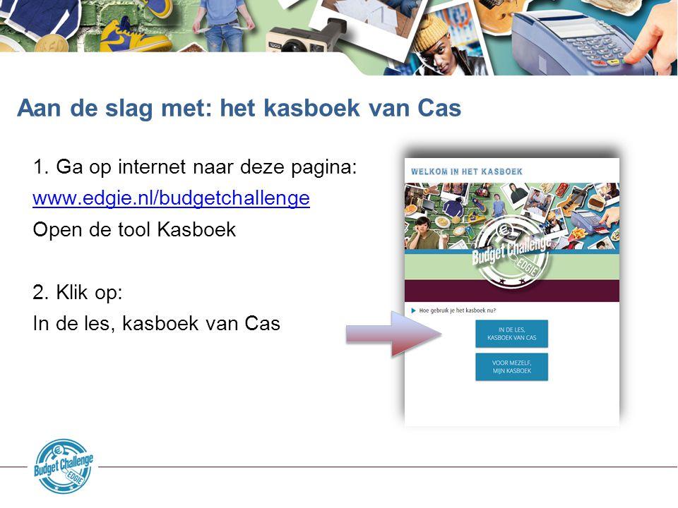 Aan de slag met: het kasboek van Cas