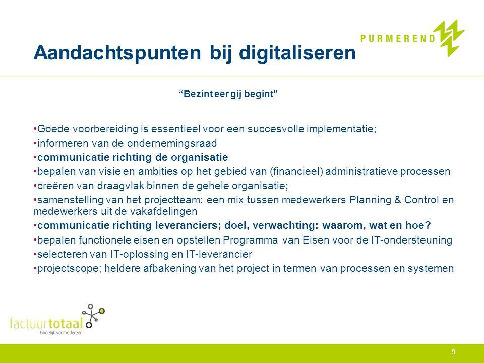 Kwalitatieve voordelen digitaal systeem