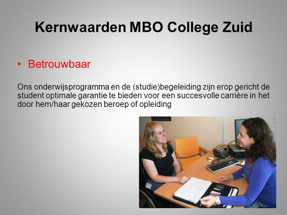 Kernwaarden MBO College Zuid
