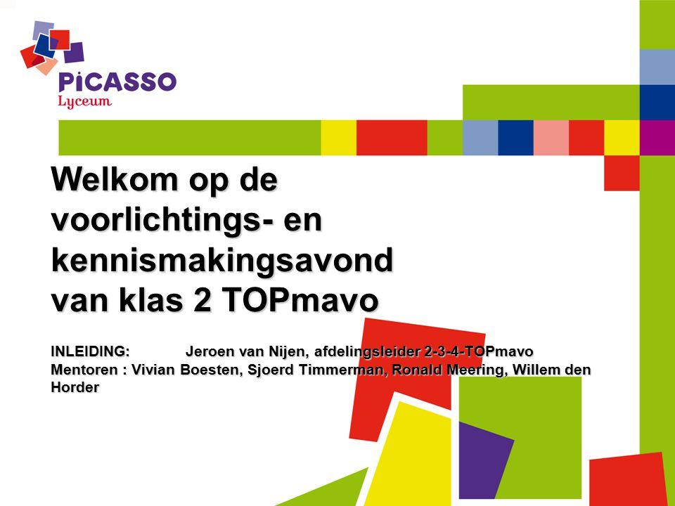 Welkom op de voorlichtings- en kennismakingsavond van klas 2 TOPmavo
