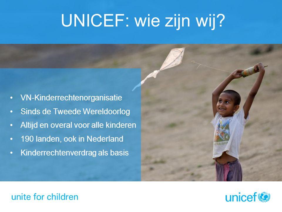 UNICEF: wie zijn wij VN-Kinderrechtenorganisatie