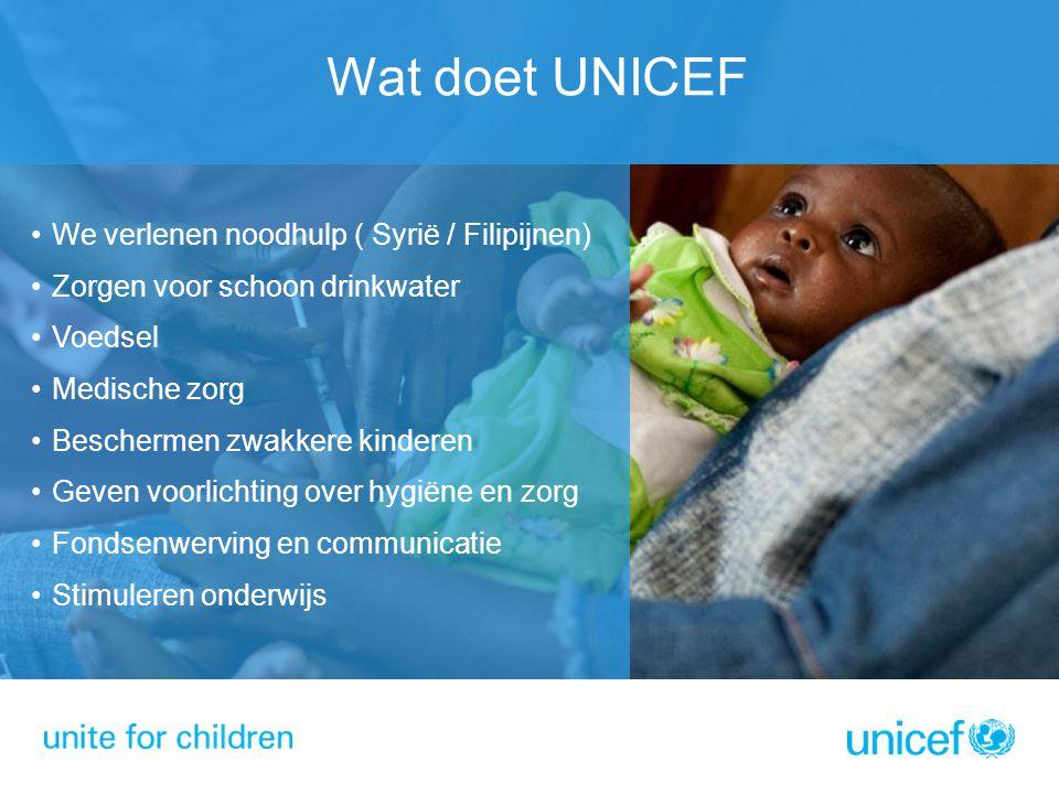 Wat doet UNICEF We verlenen noodhulp ( Syrië / Filipijnen)