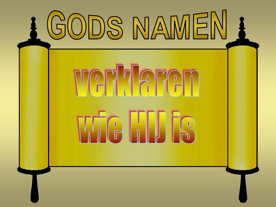 GODS NAMEN verklaren wie HIJ is