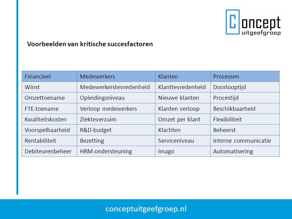 Voorbeelden van kritische succesfactoren