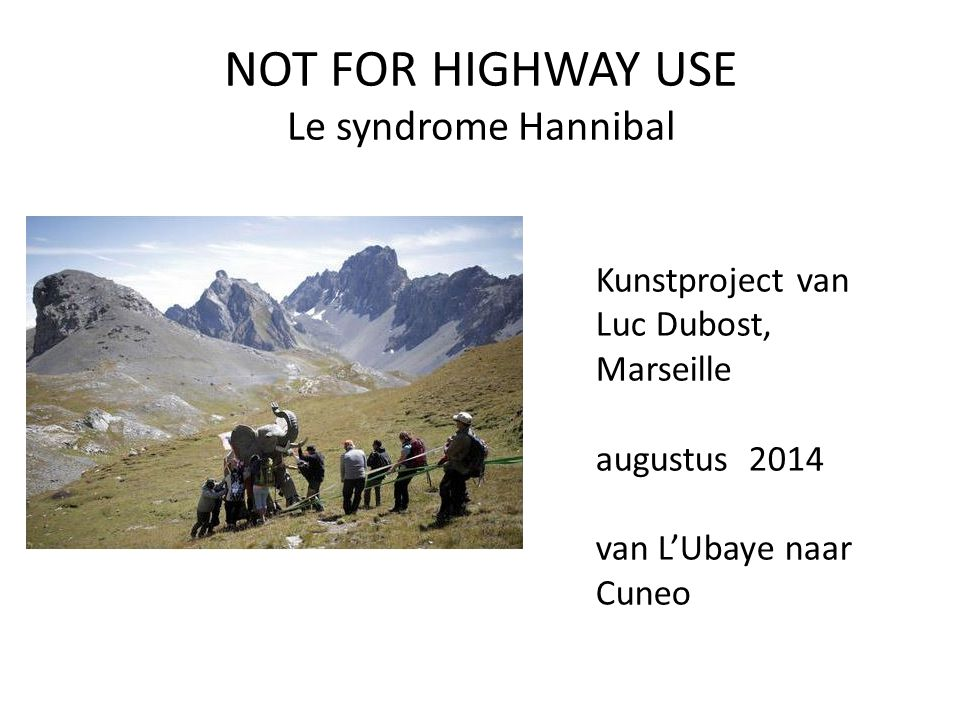 NOT FOR HIGHWAY USE Le syndrome Hannibal
