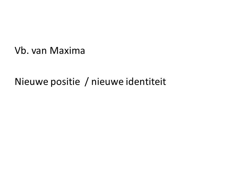 Vb. van Maxima Nieuwe positie / nieuwe identiteit