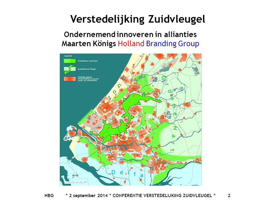 Verstedelijking Zuidvleugel Ondernemend innoveren in allianties