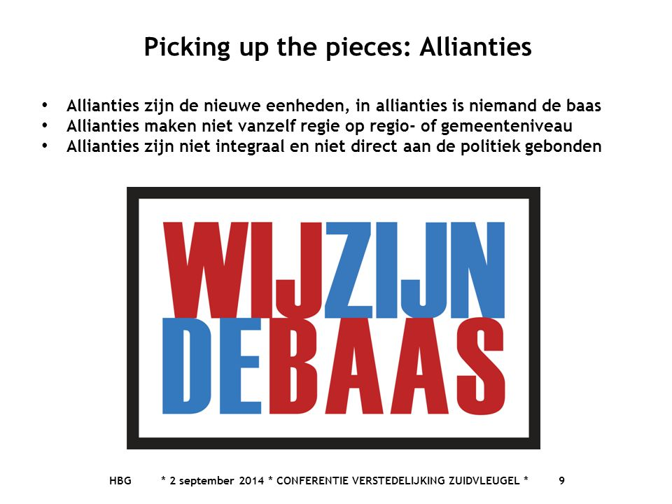 Picking up the pieces: Allianties