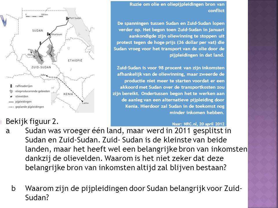 Vraag 3 Ruzie om olie en oliepijpleidingen bron van conflict.