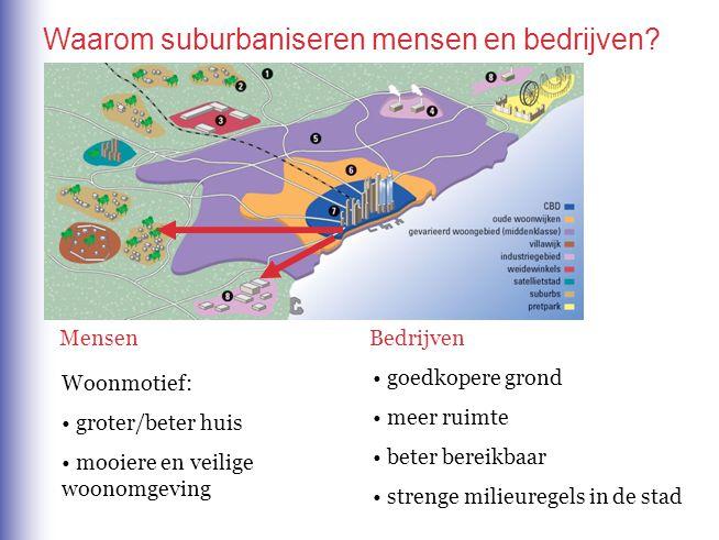 Waarom suburbaniseren mensen en bedrijven