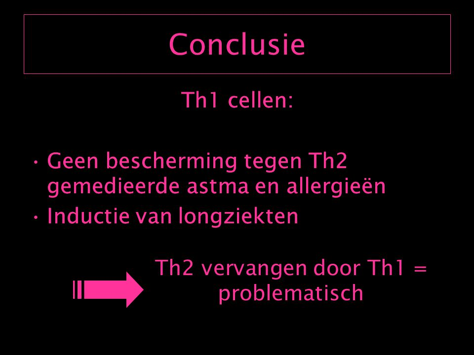 Th2 vervangen door Th1 = problematisch