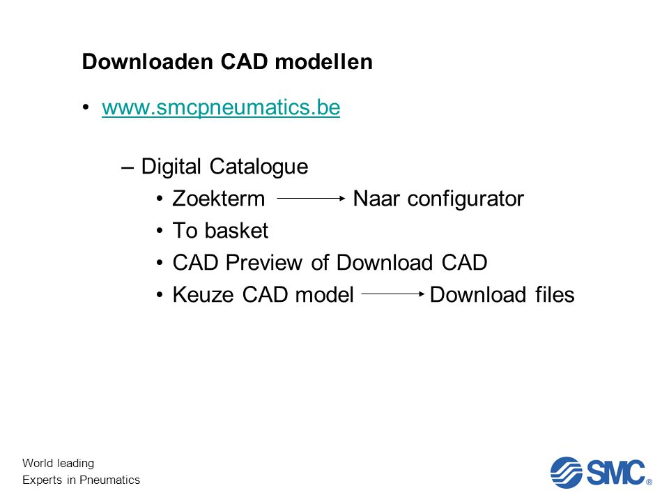 Downloaden CAD modellen