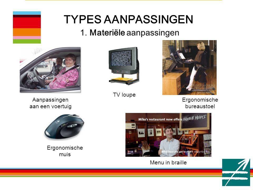 TYPES AANPASSINGEN 1. Materiële aanpassingen