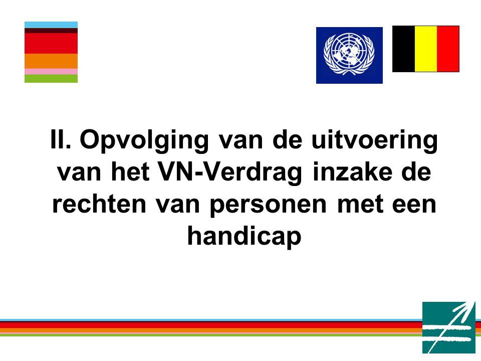 II. Opvolging van de uitvoering van het VN-Verdrag inzake de rechten van personen met een handicap
