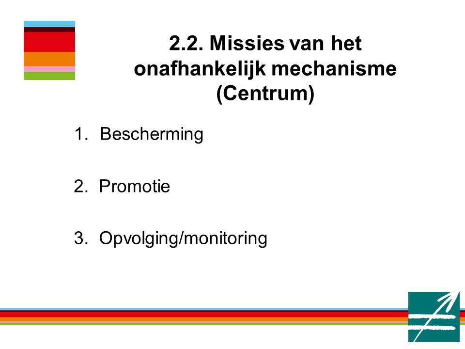 Bescherming 2. Promotie 3. Opvolging/monitoring