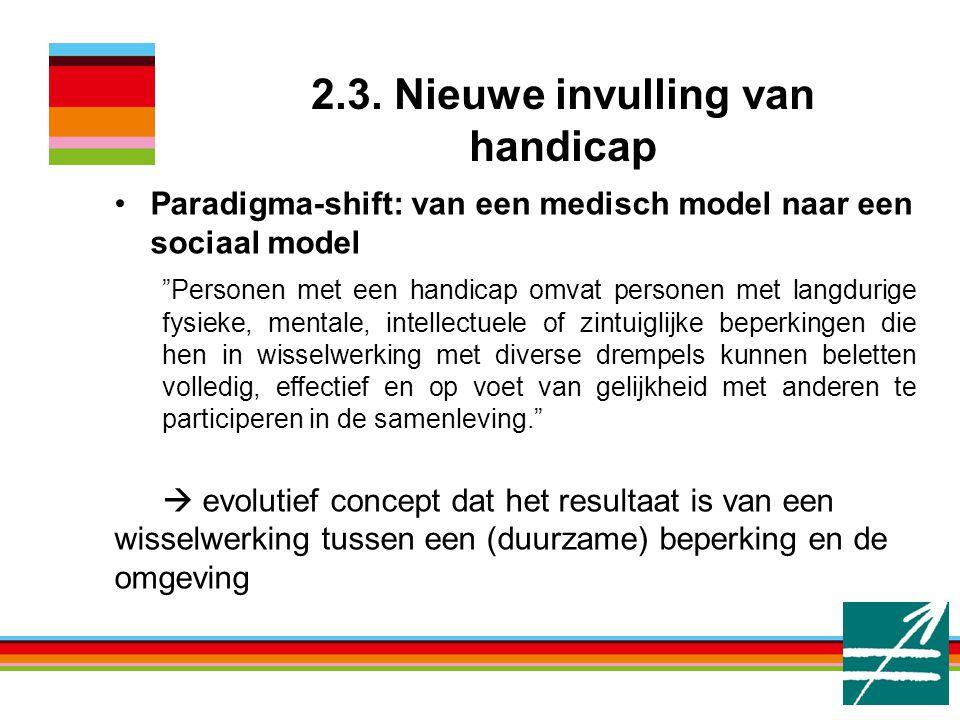 2.3. Nieuwe invulling van handicap