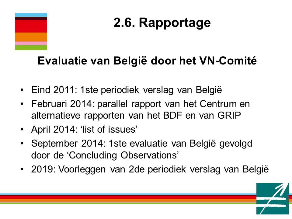 Evaluatie van België door het VN-Comité