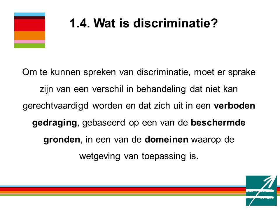 1.4. Wat is discriminatie