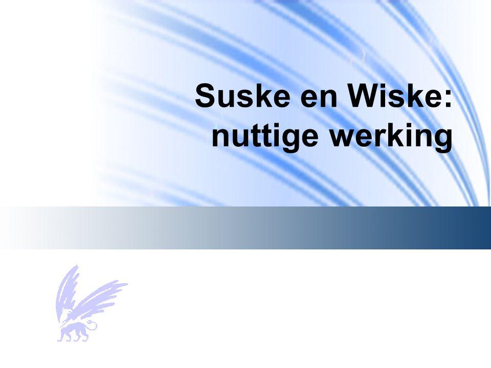 Suske en Wiske: nuttige werking
