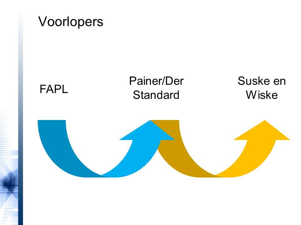 Voorlopers Painer/Der Standard Suske en Wiske FAPL