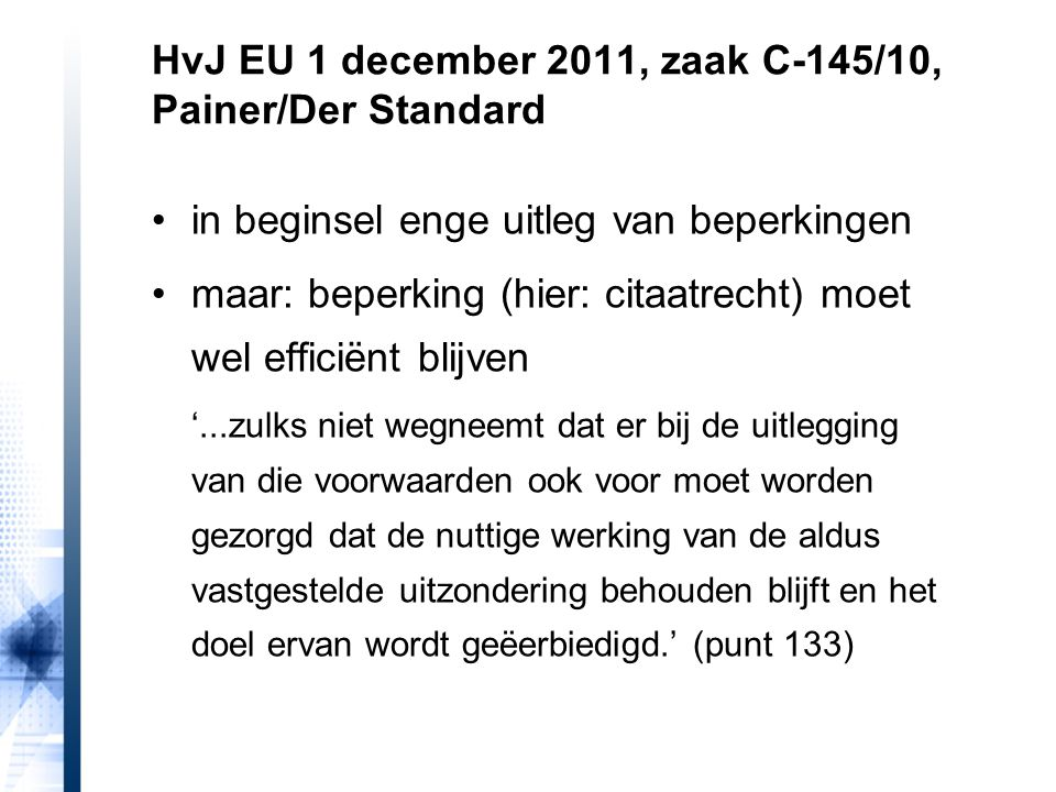 HvJ EU 1 december 2011, zaak C-145/10, Painer/Der Standard