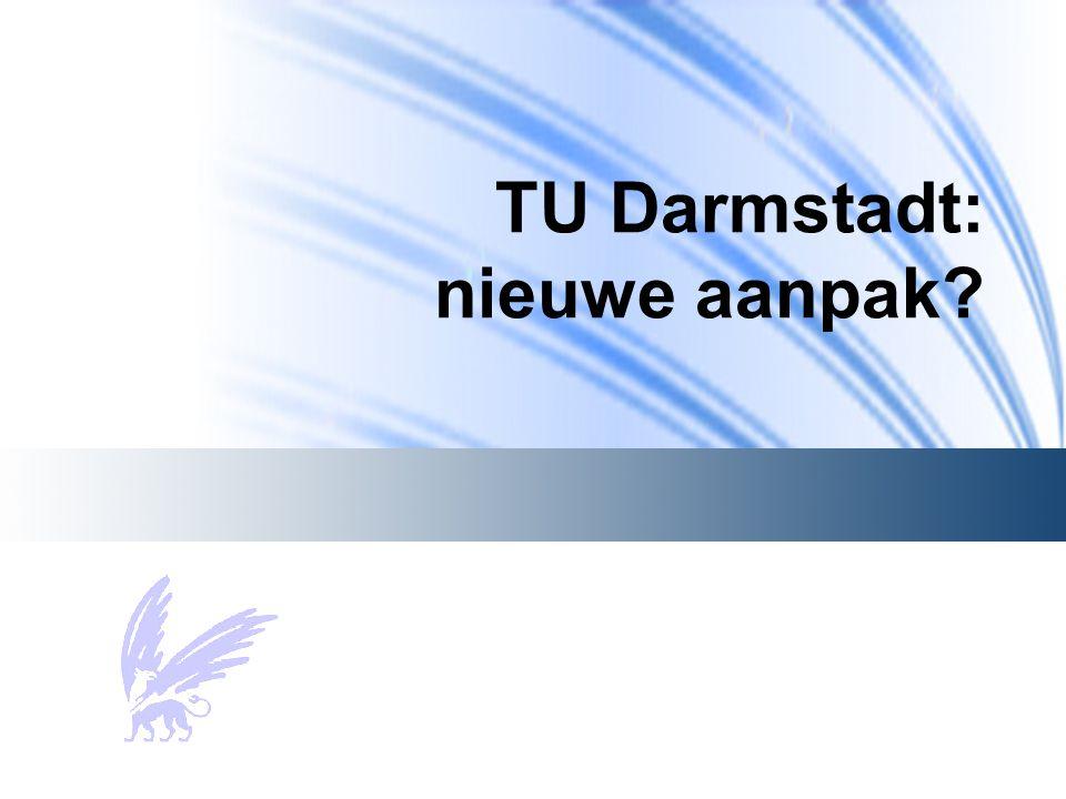 TU Darmstadt: nieuwe aanpak