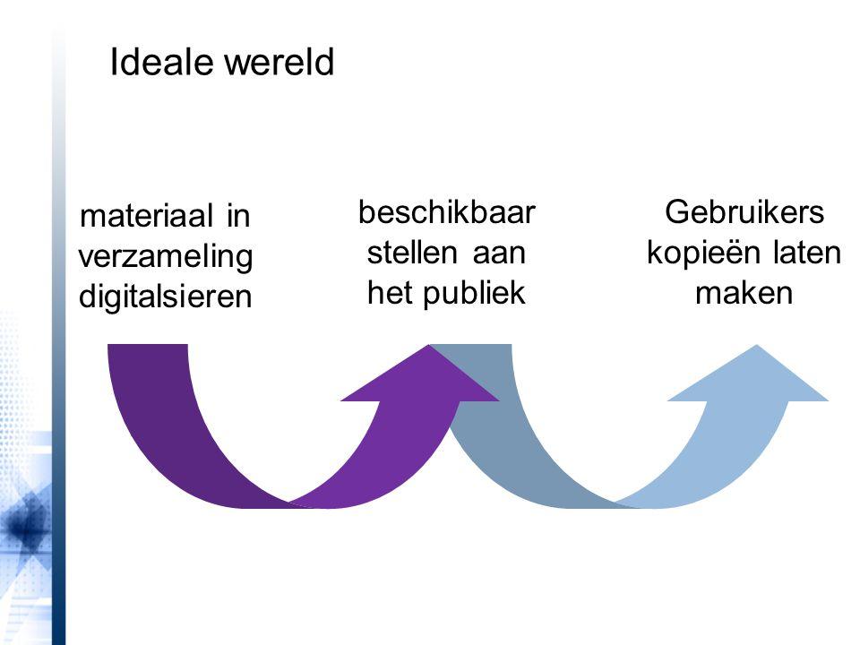 Ideale wereld beschikbaar stellen aan het publiek