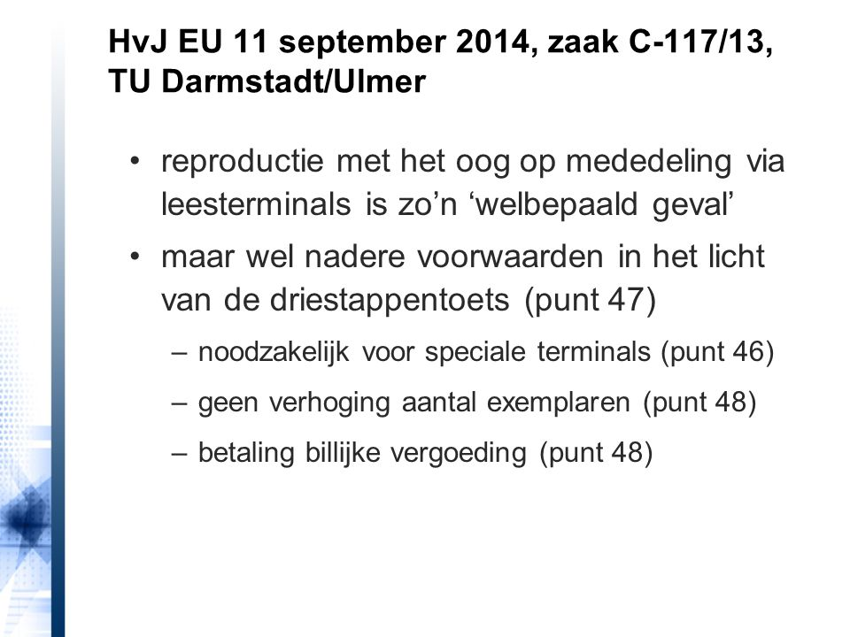 HvJ EU 11 september 2014, zaak C-117/13, TU Darmstadt/Ulmer