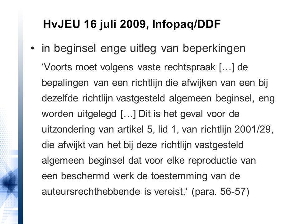 HvJEU 16 juli 2009, Infopaq/DDF