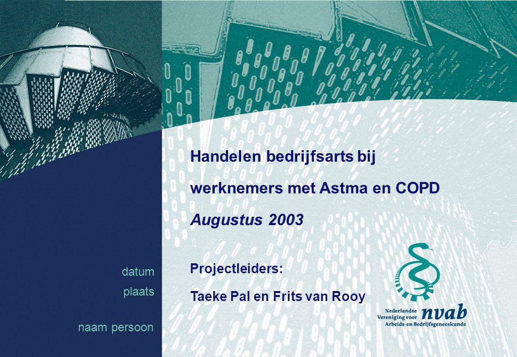 Handelen bedrijfsarts bij werknemers met Astma en COPD