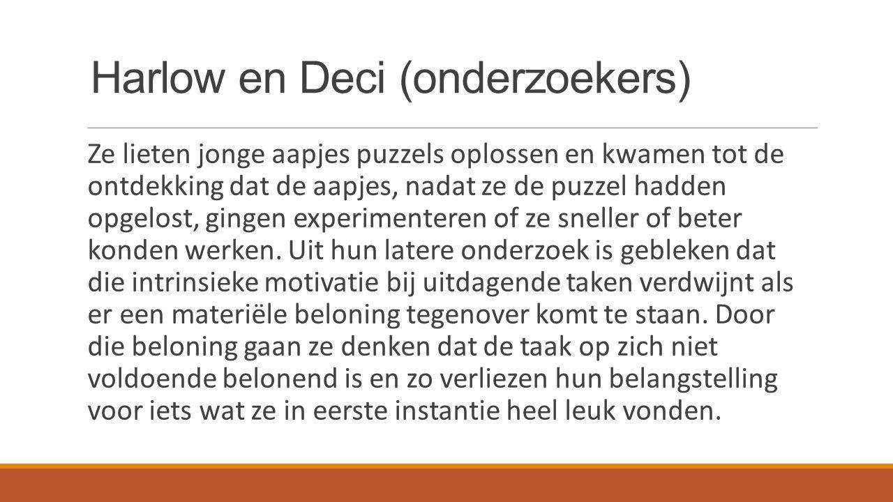 Harlow en Deci (onderzoekers)