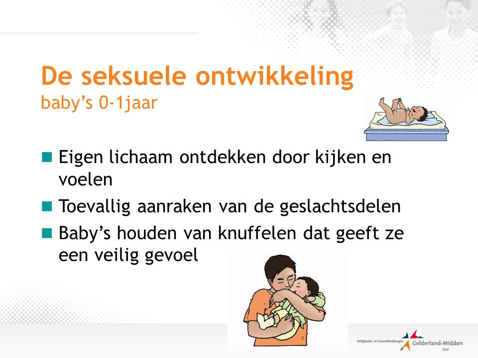 De seksuele ontwikkeling baby's 0-1jaar