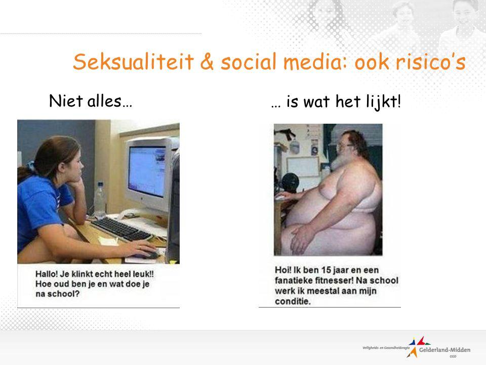 Seksualiteit & social media: ook risico's