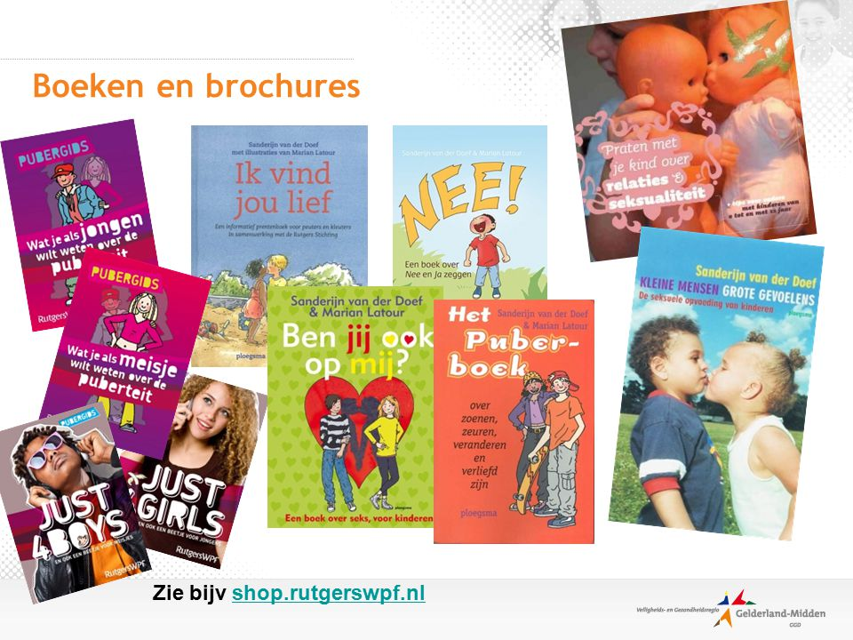 Boeken en brochures Zie bijv shop.rutgerswpf.nl