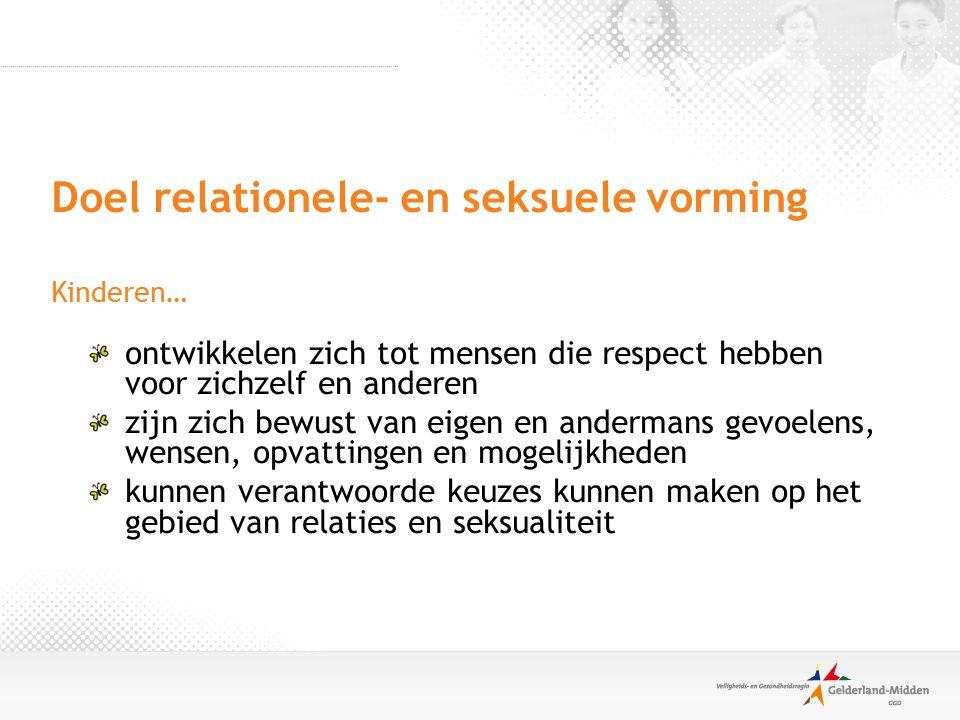 Doel relationele- en seksuele vorming Kinderen…