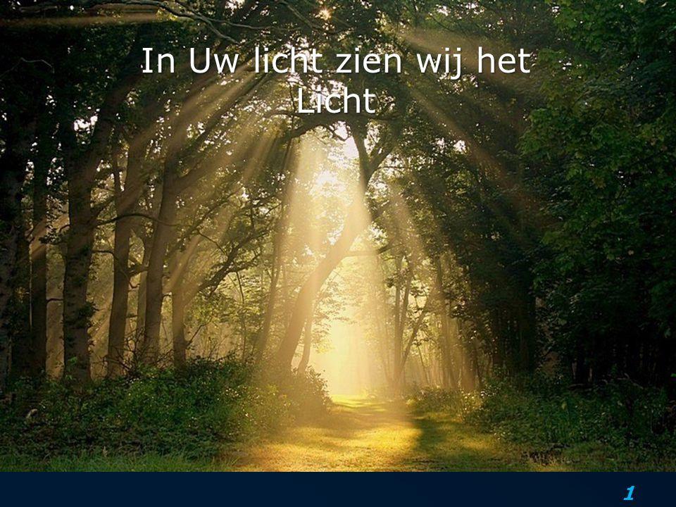 In Uw licht zien wij het Licht