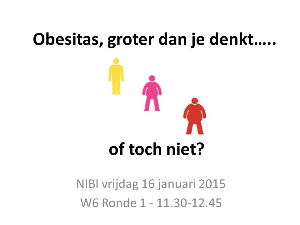 Obesitas, groter dan je denkt….. of toch niet