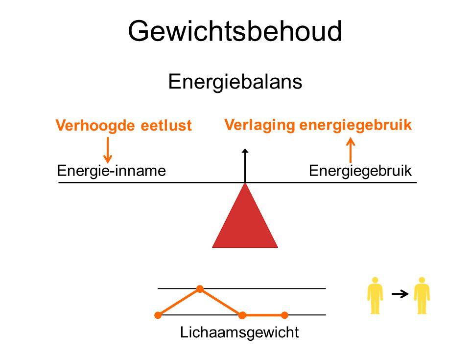 Gewichtsbehoud Energiebalans Verhoogde eetlust
